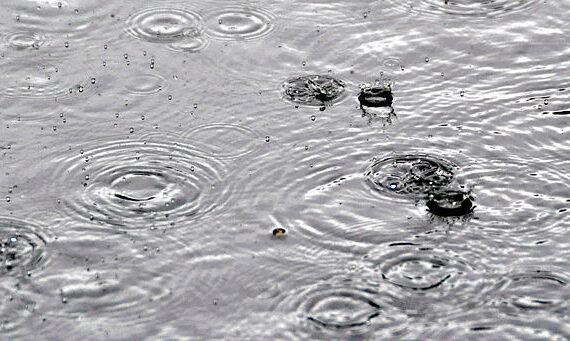Rain on asphalt