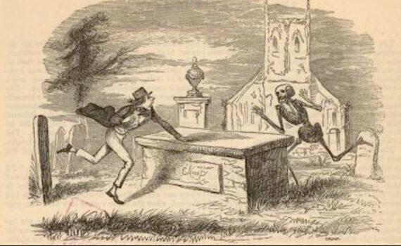 Man chased a skeleton around a crypt