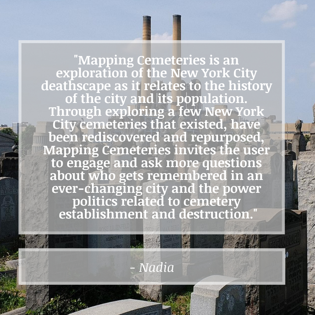 Headstones with Nadia's Definition of Mapping Cemeteries